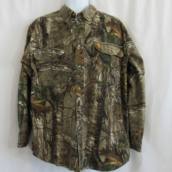 Browning Other - Browning Realtree Mens Large Camo Hunting Shirt